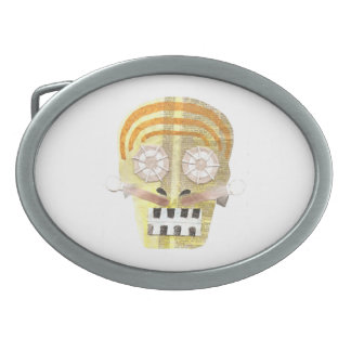 Musical Skull Buckle Oval Belt Buckles