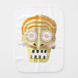 Musical Skull Burp Cloth