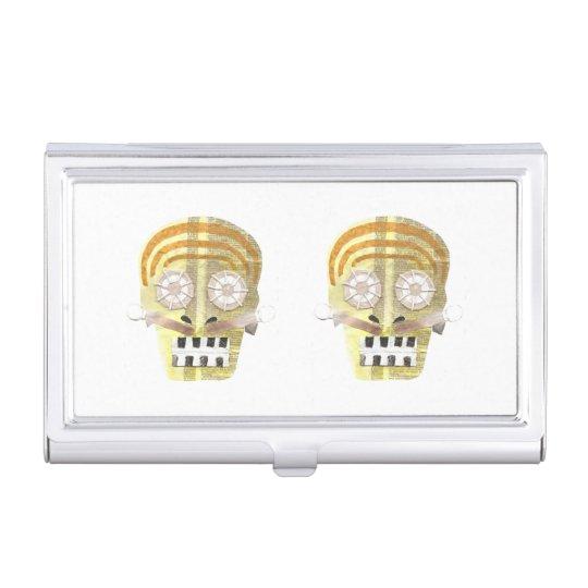 Musical Skull Business Card Holder