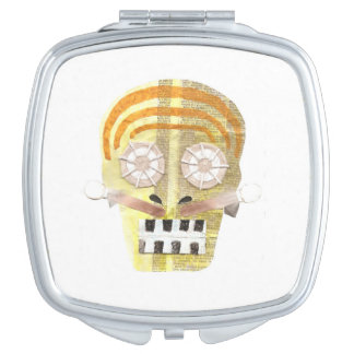 Musical Skull Compact Mirror