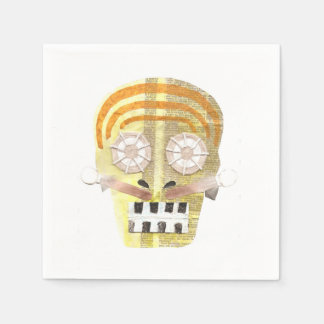 Musical Skull Napkins Paper Napkin