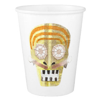 Musical Skull Paper Cup