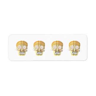 Musical Skull Return Address Labels