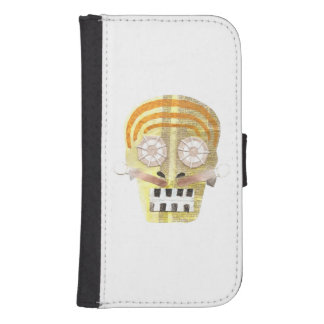 Musical Skull Samsung Galaxy S4 Wallet Case