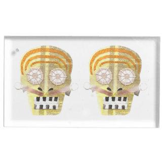 Musical Skull Table Card Holder