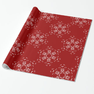 Musical Snowflakes Wrapping Paper