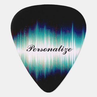 Musical Sound Wave Design Guitar Pick