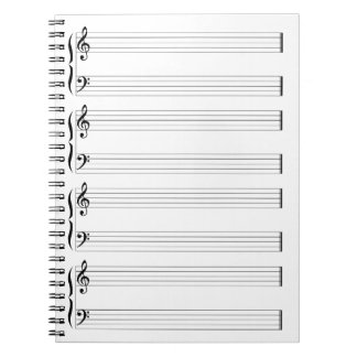 Musical Staff and Staves Notebook
