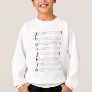 Musical Staff and Staves Sweatshirt