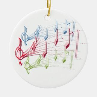 Musical Staff Christmas Tree Ornaments
