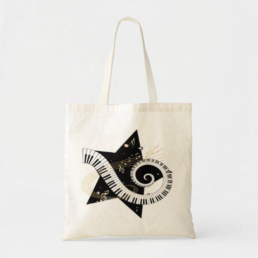 Musical Star golden notes Bag