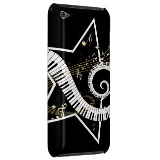 Musical Star golden notes Barely There iPod Cover
