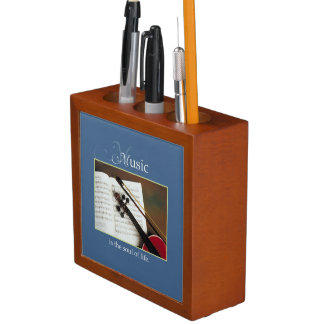 Musical Strings, The Soul of Life, Traditional Desk Organizer