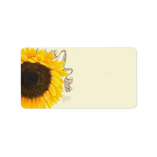 Musical Sunflower Address Labels