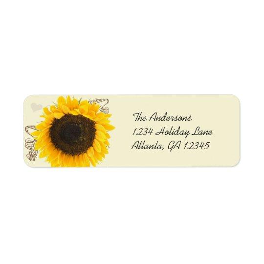 Musical Sunflower Return Address Labels