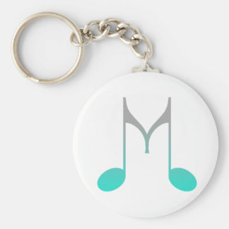 "Musical Symbol ""M"" Basic Round Button Keychain"
