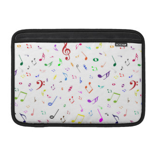 Musical Symbols in Rainbow Colors Sleeve For MacBook Air