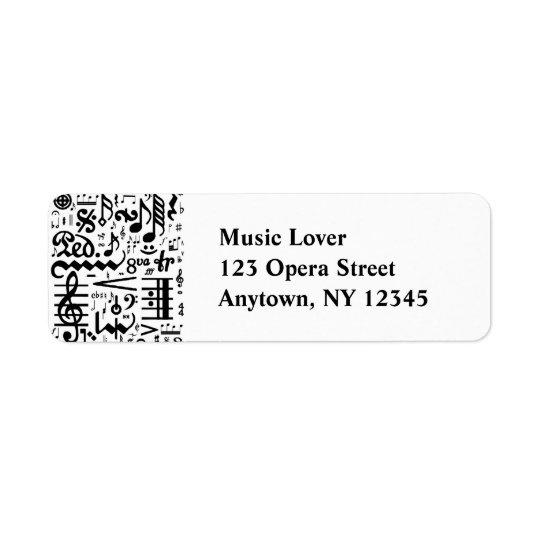 Musical Symbols Label Return Address Label