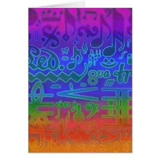 Musical Symbols multi levels Greeting Card