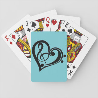 Musical Symbols on Deck of Playing Cards