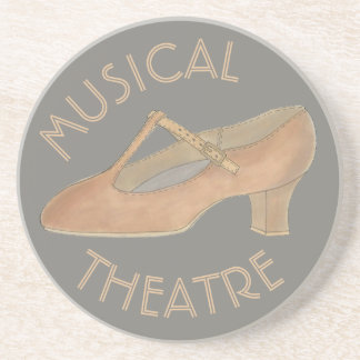 Musical Theatre Tan Character Dance Shoe Theater Coaster