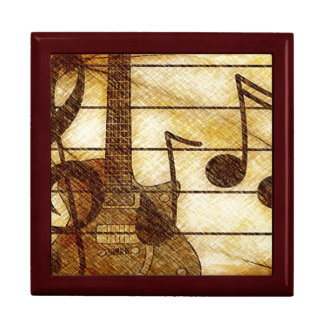 Musical Theme with Guitar Gift Box