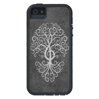 Musical Treble Clef Tree Dark Stone iPhone 5 Covers
