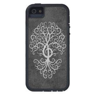 Musical Treble Clef Tree Dark Stone iPhone 5 Covers