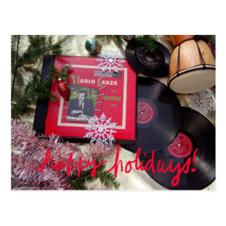 Musical Vintage Mario Lanza Holiday Postcard