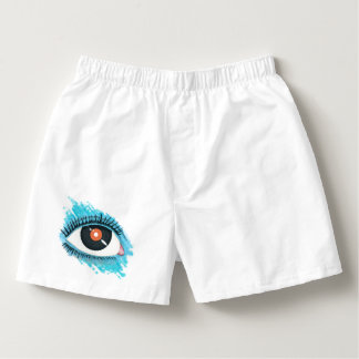 Musical vision: eye illustration with vinyl record boxers