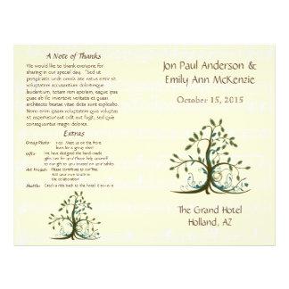 Musical Whimsical Tree Wedding Program
