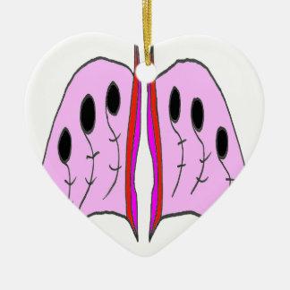MUSICAL WINGS 1.png Ceramic Heart Ornament