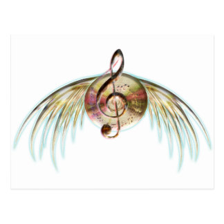 Musical Wings Postcard
