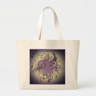 """""""MUSICALLY INSPIRED"""" tote bag"""