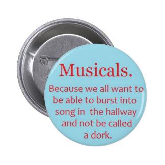 Musicals 2 Inch Round Button