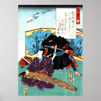Musician and Ninja 1853 Poster