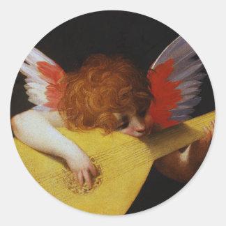 Musician Angel, Rosso Fiorentino Sticker