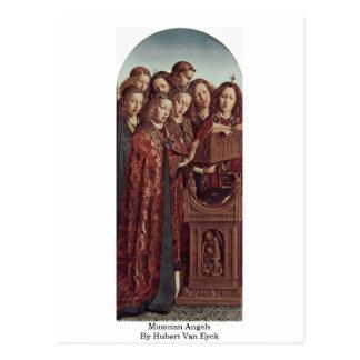 Musician Angels By Hubert Van Eyck Postcard
