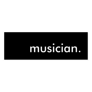 musician. business cards