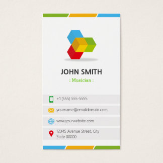 Musician - Colorful with QR Code Business Card