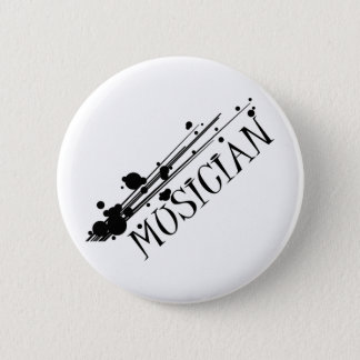 Musician cool design!! 2 inch round button