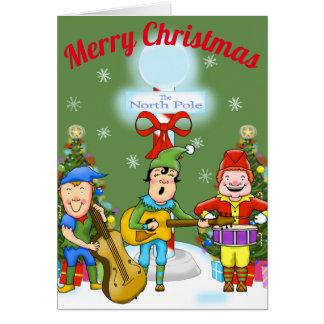 Musician Elves Christmas Greeting Card