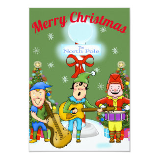 Musician Elves Christmas Party Invitations