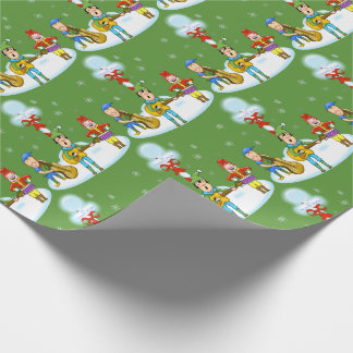 Musician Elves Christmas Wrapping Paper