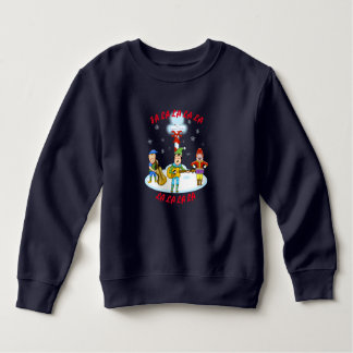 Musician Elves Toddler Fleece Sweatshirt