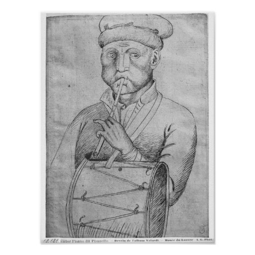 Musician, from the The Vallardi Album Poster