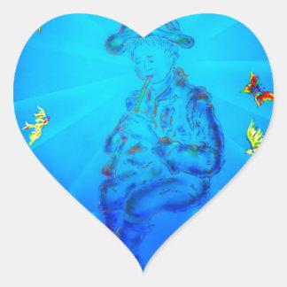 Musician Heart Sticker