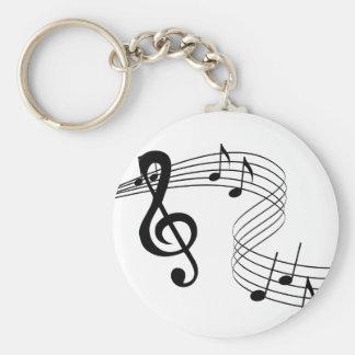 Musician Music Score Keychain