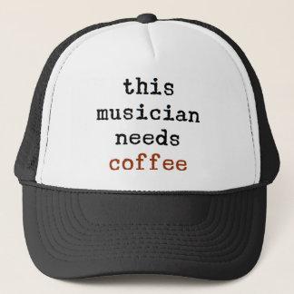 musician needs coffee trucker hat