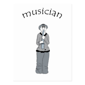 musician postcard